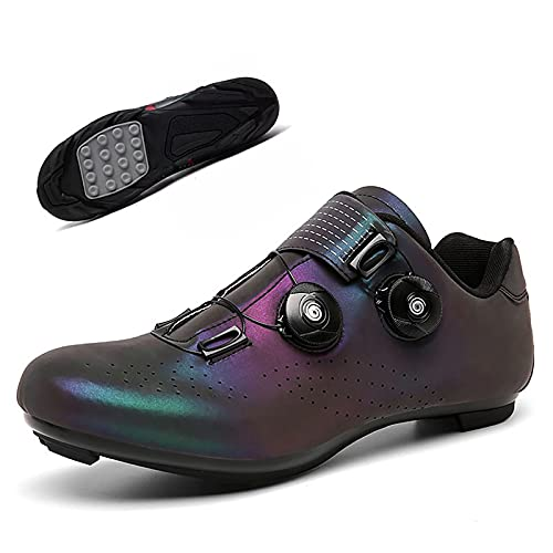 Scarpe da Bici da Ciclismo da Strada da Uomo,Scarpe da Ciclismo da Equitazione da Donna Scarpe da Cicloturismo Antiscivolo,Blu,41