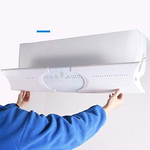 TIZJ Retráctil de Aire Acondicionado Deflector, los estomas Ajustable Deflector de Aire Acondicionado Parabrisas deflectores for el hogar/Oficina - Blanco