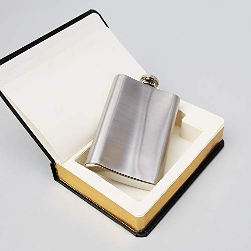 Suck UK 4 oz Stainless Steel Secret Hip Flask Disguised in 'The Good Book' - Novelty Gift and Drinks Container