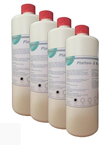 Preisvergleich Produktbild Star Clean Platten & Wegerein,  4 x 1L - Steinreiniger-Konzentrat für Terasse,  Plasterstein und Beton