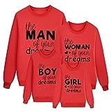 Familie Kleidung Langarmshirt Dasongff Pulli Sweatshirt Casual Sportswear Outwear Hoodie Pullover Papa und Sohn Mama und Tochter
