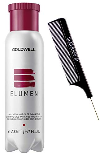 emphasis GoIdweII ELUMEN High-Performance Long Lasting Hair Color Dye, Oxidant-Free, No Developer Needed (with Sleek Steel Pin Rat Tail Comb) Haircolor Direct Dyes - Pastel Rose PLROSA@10