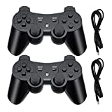 PS3 Wireless Controller, Playstation 3 Controller, Wireless Bluetooth Gamepad with USB Charger Cable...