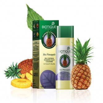 Biotique BIO PINEAPPLE - OIL CONTROL FOAMING FACE CLEANSER (Pack of 2) - 120ml (Ship from India)