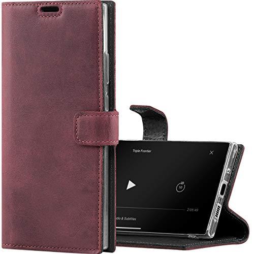 SURAZO Funda de teléfono móvil para S20 FE Premium RFID, funda de piel auténtica con función atril – Funda plegable hecha a mano en Europa para Samsung Galaxy S20 FE 5G / 4G