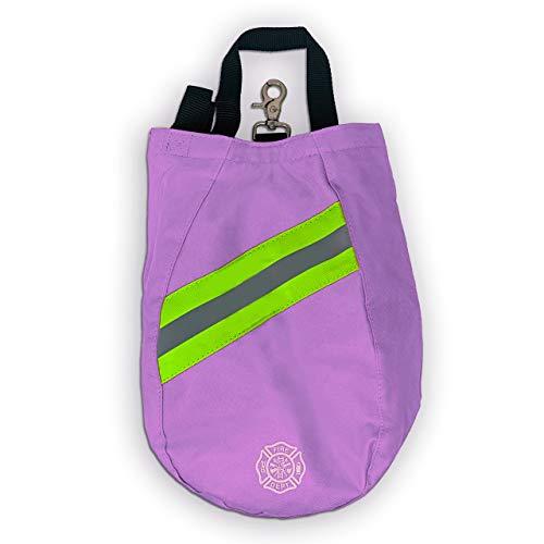 Revolution SCBA Air Pak Respirator Firefighter Mask Face Piece Bag, Fleece Lined for First Responder - Ripstop Turnout Gear - Pink