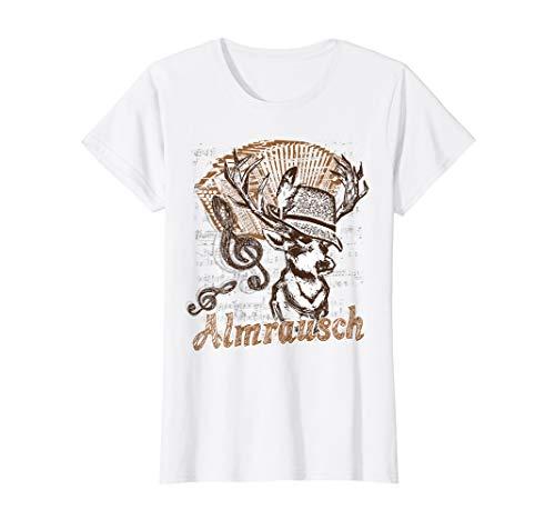 Trachten Shirt Almrausch Hirsch Steirische