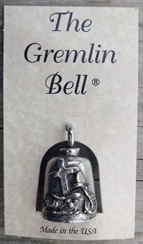All American Gremlin Bells-Jesus Rides with Me Gremlin Bell for Bikers and Riders