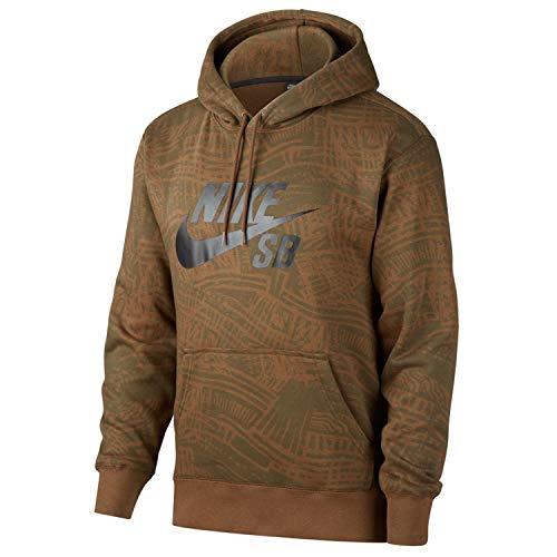 Nike SB - Sudadera con capucha para monopatín estampado - Hombre Cargo Khaki/Cargo Khaki/negro CK5125-325 Cargo Khaki/Cargo Khaki/Negro S