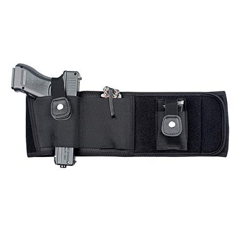 N \ A Funda para Pistola con Banda para el Vientre definitiva para Transporte Oculto | Compatible con Smith y Wesson, Shield, Ruger LCP y Pistolas similares, Correr, Caminar, Trotar