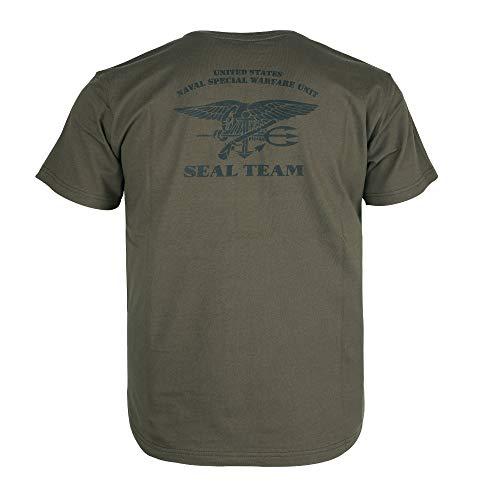 EXCELLENT ELITE SPANKER メンズ Tシャツ半袖アメリカ海軍ネイビーシールズ春夏着服速乾性快適(Rgn-) S 濃い緑「RGN」