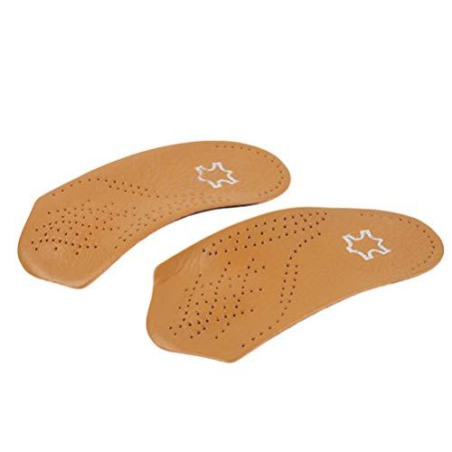 SUPVOX plantillas ortopédicas para pies planos soporte de arco cojín de zapatos mujeres hombres talla 39-40 (marrón)