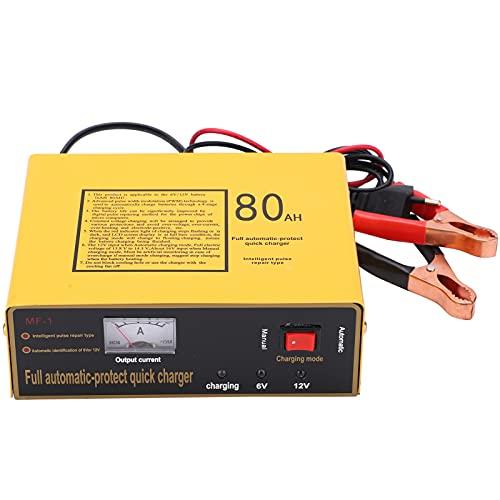 Cargador Batería Cargador Inteligente Automático Monitor Carga Mantener la Batería MF-1 Fuente Alimentación para Automóvil Eléctrico para Niños Motocicleta 120W AC250V(EU Plug)
