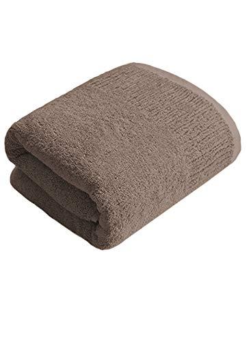 CAFRITZ sehr saugfähige Badetücher, einfarbig, Badhandtuch, schnell trocknend, Strandtücher (71,1 x 139,9 cm) Gr. 28*140 cm, braun