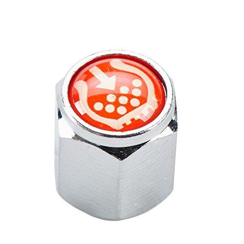 20x Ventilkappe Kennzeichnung Wuchtpulver Typ504, Ventilkappe Metall Autoreifen, Verchromte Ventilkappe Auto Metall