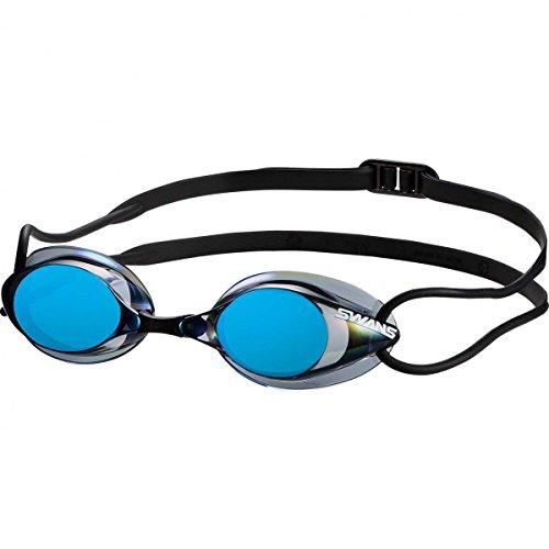 SWANS verspiegelte Schwimmbrille SR-1M, Farbe:Smoke Blue (SMBL)