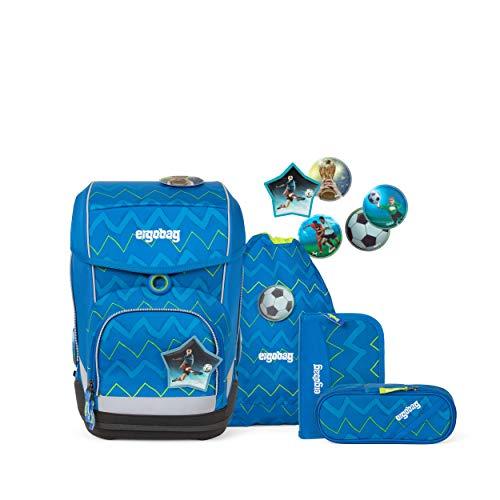 ergobag cubo Set - ergonomischer Schulrucksack, Set 5-teilig - LiBäro 2:0 - Blau