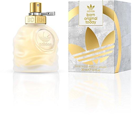 adidas Born Original Today Eau de Toilette – Blumig-zitrisches Damen Parfüm für jeden Tag, mit schwungvoll kontrastierenden Düften – 1 x 30 ml