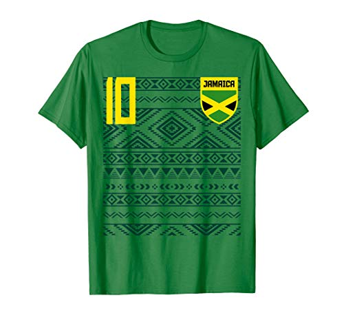 Retro Jamaican Jamaican Futbol Soccer Jersey Shirt JerseyTee