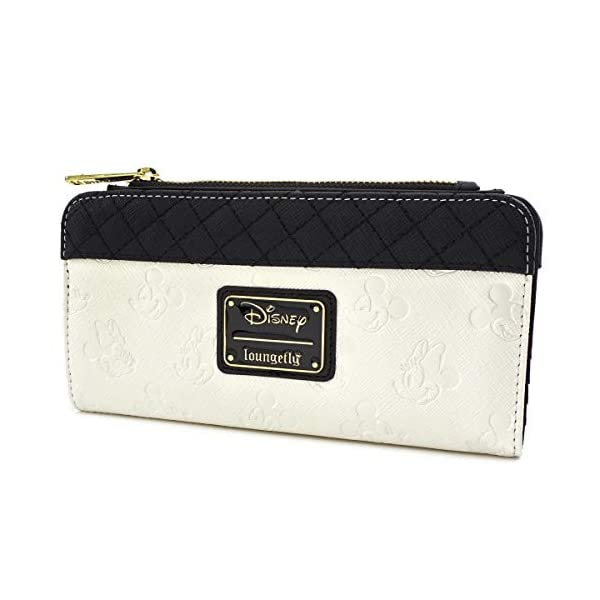 Loungefly x Minnie and Mickey Mouse Debossed Heads Wallet