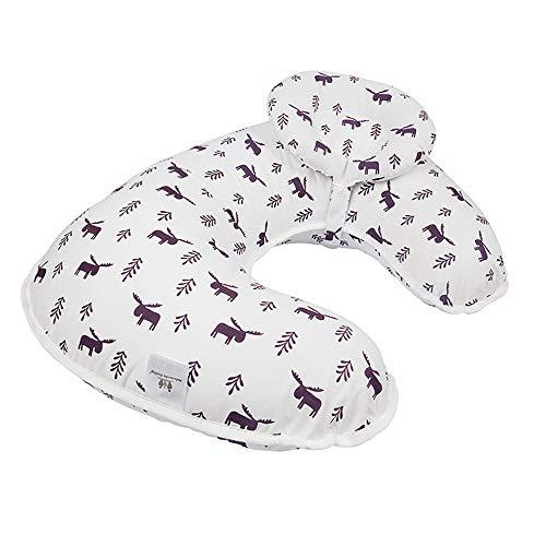 Oreillers d'allaitement pour bébé, oreillers, oreillers de grossesse Oreiller 46 * 45 * 10cm Idéal pour les déplacements