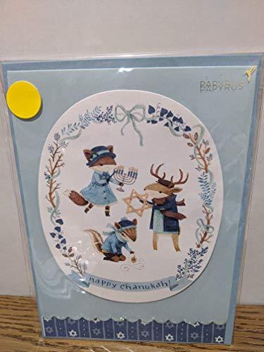 PAPYRUS Critters Celebrating Chanukah Cards, 1 Each