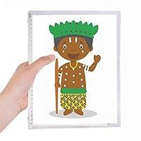 ブラック・ワイルドコンゴ川漫画 硬質プラスチックルーズリーフノートノート