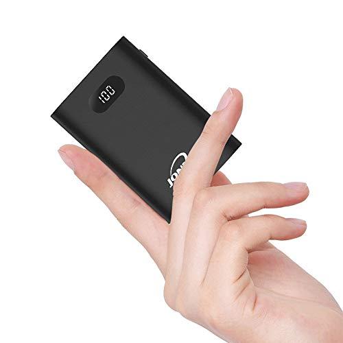 Powerbank 13400mAh Handy Externer Akku Klein LCD Tragbares Ladegerät Mini Hohe Kapazität Akkupack Dual USB Ports mit Type C Eingang Externer Batterie Pack für iPhone iPad Samsung Nintendo Switch