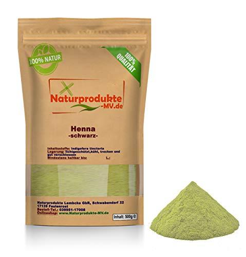 Henna Pulver schwarz (500 g) Hennapulver Haarfarbe natürliche Haarpflege