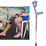Codos bajo el brazo, muleta plegable para adultos, codo de codo, muleta de apoyo para caminar, aleación de aluminio