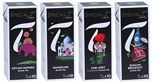 Special.T - mélange de thé noir classique (4 types de 10 capsules)