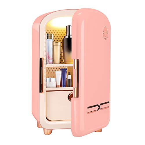 TELAM Mini frigo 12 Litri, Mini Frigorifero Portatile per la Cura della Pelle per conservare i Trucchi, Frigorifero Portatile per la Bellezza Dispositivo di Raffreddamento termoelettrico
