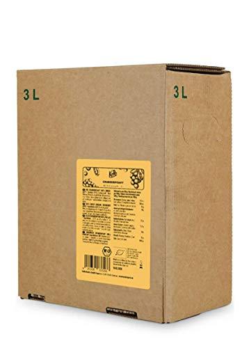 KoRo - Zumo de arándanos orgánicos bag-in-box 3 l - 100% zumo directo de arándanos orgánicos sin azúcar añadido en el paquete de valor