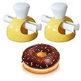 Gurxi Rosquillas Molde Delicia Rosquilla de Plástico Molde Delicioso Donuts Maker de Plástico Donut Molde Plástico Antiadherente para Hacer Rosquillas en el Hogar o Restaurante 2 Piezas