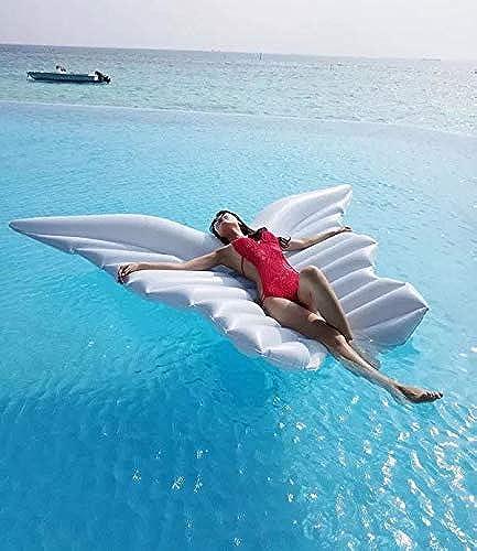 ATYMD Luftmatratze Wasser Riesiger Pool-Floss-aufblasbarer Pool-Regenbogen aufblasbar, Regenbogen, der aufblasbare Regenbogen-Wolken-Pool-Partei-Spielwaren schwimmt
