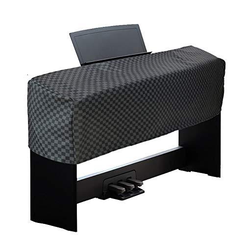 MILECN Universale Tastiera e Pianoforte Digitale Copertura Antipolvere per 88 Tasti, Cuoio Impermeabile dell unità di Elaborazione, Cerniera Protezione Copertura Antipolvere,Grigio
