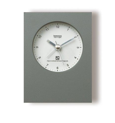 Lemnos mini Alarm Clock grau - Design-Wecker aus Japan in kräftigen Farben und leisem Uhrwerk