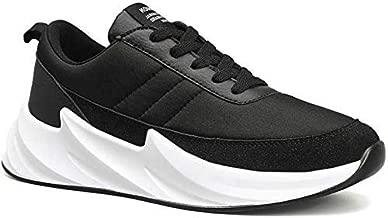 BUCADIA Men' S Mesh Savar Black White Running Sports Walking Casual Sneakers Shoes Gym Shoe