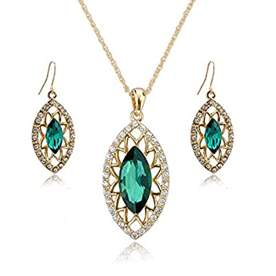 Jewelry Necklace and Earrings Set - YiaMia(TM) Pearl Pendant Necklace and Pearl Earrings Dangles 18K Silver Plated Imitated Jewelry Sets for Women Girls Teen Girls Wedding Party Dresses