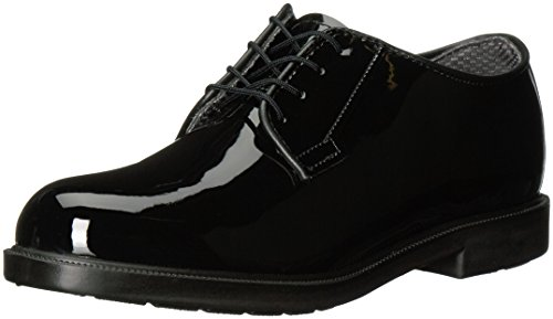 Bates Women's High Gloss DuraShocks Oxford, Black, 6 W US