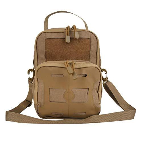 VGEBY Mens Multi-Function Sling Backpack Haversack Military Bag Tactics Single Shoulder Bag for Outdoor Camping Hiking Sports(Kaki)