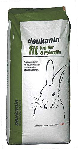 Deukanin Fit Kruiden & Peterselie | Voor konijnen met stress, jonge konijnen en zogende konijnen | Met granen en kruiden | Inhoud: 25 kg