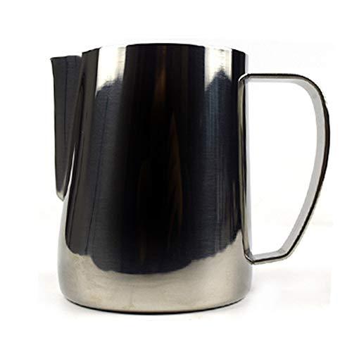 MIGHTYDUTY Edelstahl Aufschäumkrug 350/600 ml, Espresso Dampfkrug für Espresso, Latte Art und Aufschäumen Titan Schwarz