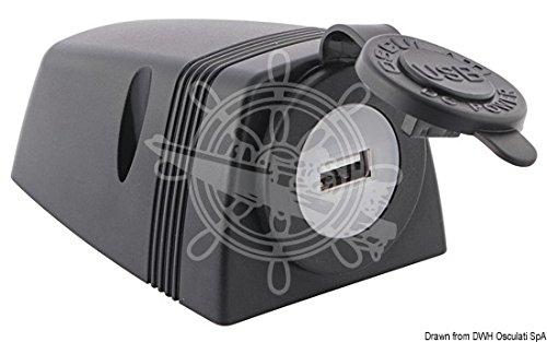 OSCULATI Prise USB + carénage p. Fixation sur Plan