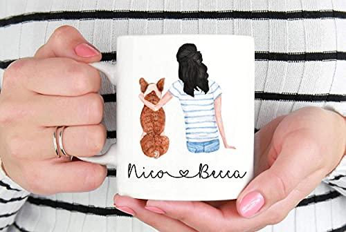 11oz Coffee Mug,Custom Personalized Pet Mug Dog Lover Mug I Love My Dog Dog Parent Mug For Her Mug Pet Mom Frenchie Mom Mug Custom Pet Mug,Christmas Birthday Mug 5G03DN