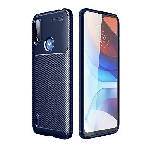 Liner Cover per Motorola Moto E7i Power/Moto E7 Power, Custodia Silicone Protezione Completa in Gomma Gel Morbida, [Antiurto e Antiscivolo] Ultra Sottile Case per Motorola Moto E7i Power - Blu