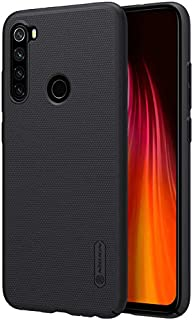 Nillkin Case Xiaomi Redmi Note 8 [with Phone Stand] Frosted Shield Anti Fingerprints Hard PC Case Back Cover - Black Color