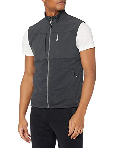 Hi-Tec Men's Fan Point Mesh Back Zip Vest with Active DRI-TEC, Pirate Black, X-Large