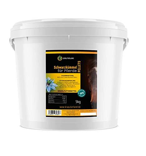 Kräuterland - Schwarzkümmel Pellets für Pferde 5kg - 100% naturrein - täglich frisch gepresst ohne Zusätze