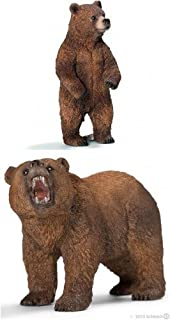 Schleich Set of Two (2) Grizzly Male and Female Bears in Bag Together. Well-researched and Realistic, Durable, Ready to Give.